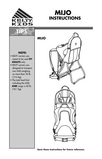 kelty country child carrier manual