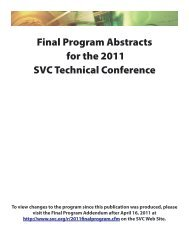 Download the Final Program Abstracts - The Society of Vacuum ...