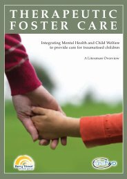 Therapeutic foster care - Berry Street Childhood Institute