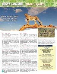 KENYA TANZANIE * CIRCUIT 14 JOURS - Voyages Cassis