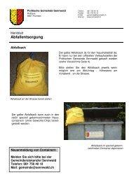 Merkblatt Abfallentsorgung - in Sennwald