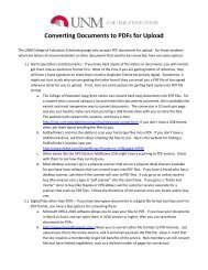 Converting Documents to PDFs for Upload - College of Education