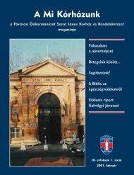 A Mi Kórházunk: 2001. február ( III/1) - Szent János Kórház
