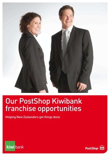 Our PostShop Kiwibank franchise opportunities - New Zealand Post