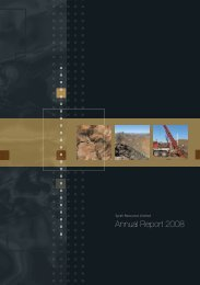 Annual Report 2008 - Syrah Resources Ltd