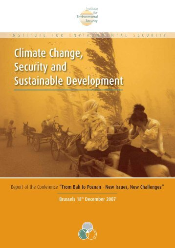 Climate Change, Security and Sustainable Development