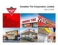 Investor Presentation - March 2009 - Canadian Tire Corporation