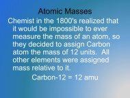 Atomic Masses