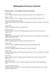 Bibliography Francesco Clemente - Sent
