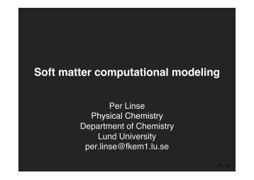 Soft matter computational modeling - Computational Biology ...