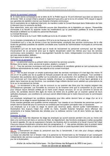 POUR UN DEVOIR DE MEMOIRE 1 Statut du - Canalblog