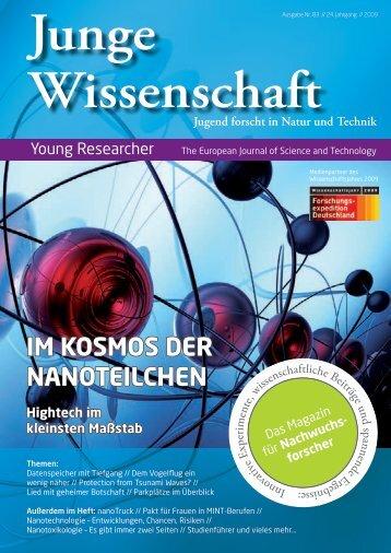 Download Leseprobe Ausgabe 83 als PDF - Junge Wissenschaft