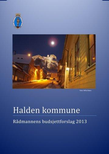 RÃ¥dmannens budsjettforslag 2013.pdf - Halden kommune