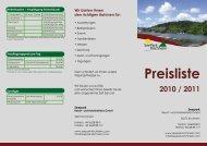 Preisliste 2010 / 2011 - Seepark Kirchheim