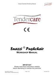 snazzi pushchair workshop manual.pdf - Tendercare Ltd