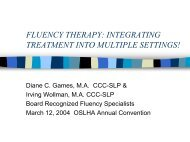 integrating treatment into multiple settings! - Fluency Friday Plus