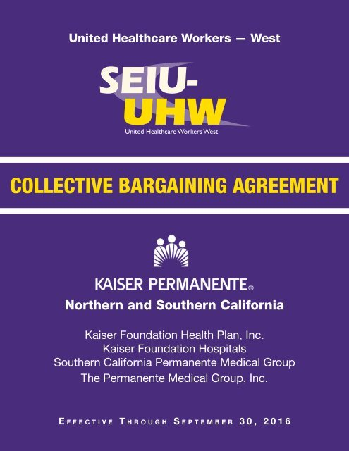 2012 Local Agreement - SEIU-UHW Healthcare Workers West