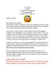 CE E-Letter Jan. 9, 2012 - First Congregational UCC Washington DC