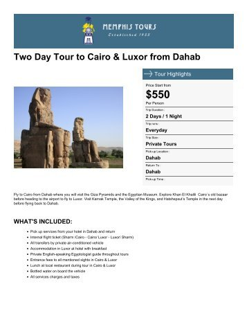 Two Day Tour to Cairo & Luxor from Dahab Great Sphink , Giza The ...