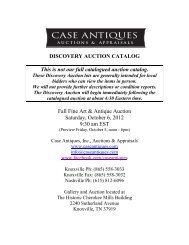 Fall Fine Art & Antique Auction Saturday, October - Case Antiques