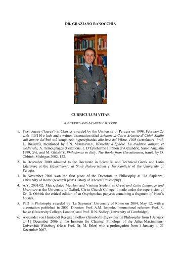 Dr. Graziano Ranocchia - PHerc