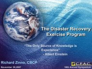 The BCP/DR Exercise Program - Contingency Planning Association ...