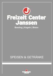 SPEISEN & GETRÄNKE - Freizeit Center Janssen