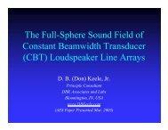 (CBT) Loudspeaker Line Arrays - Audio Artistry