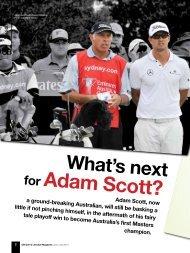 for Adam Scott? - Golfplus Media