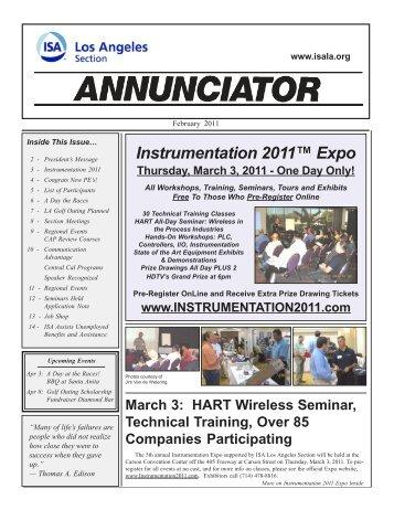 Feb 2011 - Analyzer Products Group