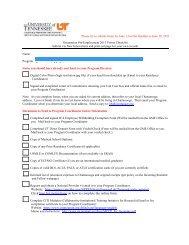 2011 Orientation Forms Checklist