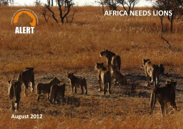 AFRICA NEEDS LIONS - African Lion & Environmental Research Trust