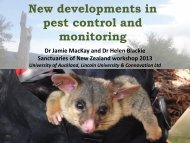 New developments in mammal monitoring and pest control