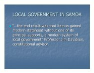 local government in samoa - Local Government Managers Australia