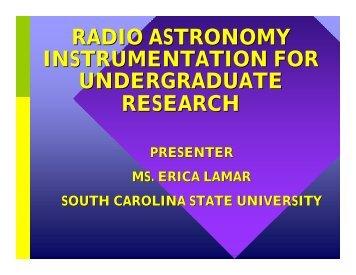 radio astronomy instrumentation for undergraduate ... - Cnrt.scsu.edu