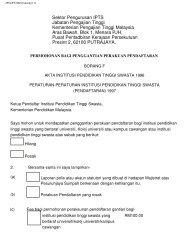 Sektor Pengurusan IPTS Jabatan Pengajian Tinggi Kementerian ...
