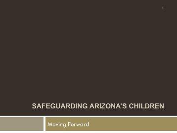 Task Force Recommendations Safeguarding Arizona's Children