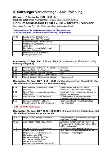 5. Salzburger Verkehrstage - Ablaufplanung ... - TrolleyMotion
