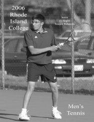 M.Tennis - Rhode Island College Athletics