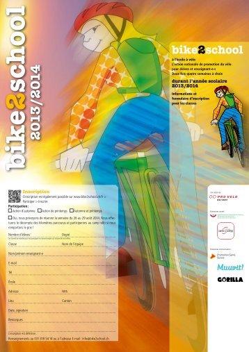 par courrier - Bike2school