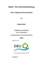 Boden - Eine Lehrerhandreichung - Senckenberg