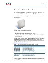 Cisco Aironet 1140 Series Access Point