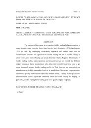 Insider Trading Behavior and News Announcement Evidence from ...