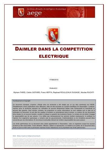 Daimler dans la compétition électrique - Base de connaissance AEGE