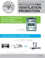 BERTAZZONI FREE VENTILATION PROMOTION - US Appliance