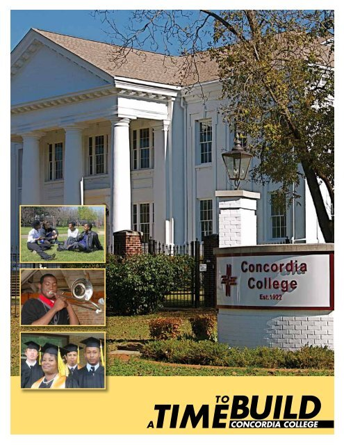 A Time to Build - Concordia College