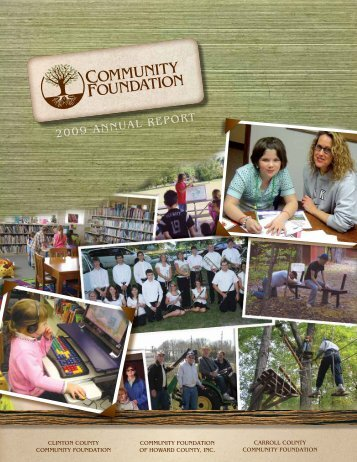 2009 ANNUAL REPORT - Community Foundation of Howard County