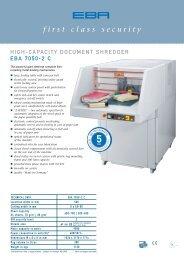 high-capacity document shredder EBA 7050-2 C, PDF data sheet