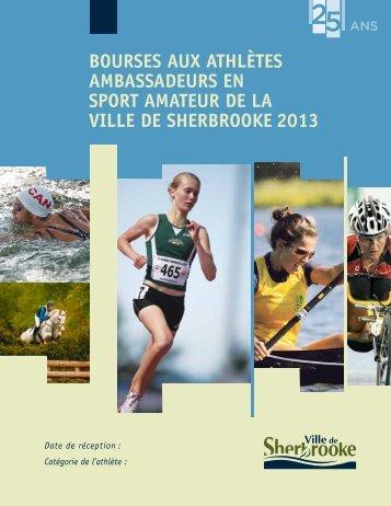 Formulaire d'inscription (PDF - 358 Ko) - Ville de Sherbrooke