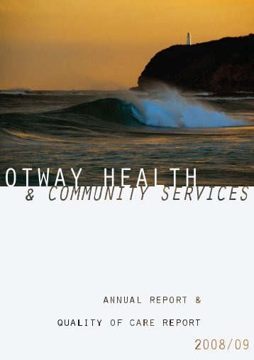 Report of Operations - South West Alliance of Rural Health